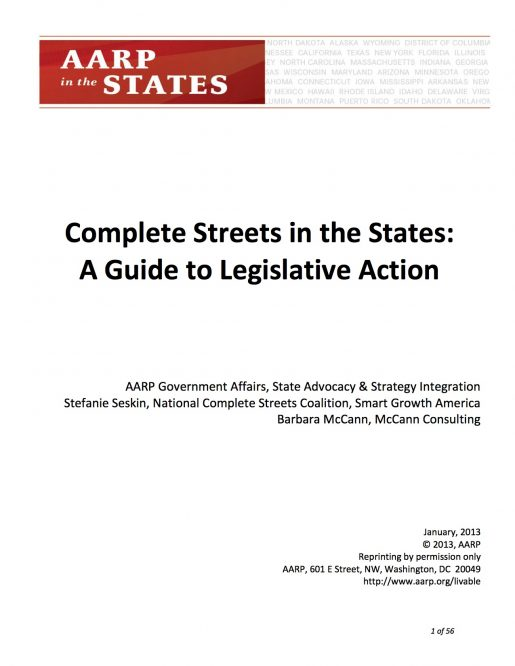 Complete Streets in the States: A Guide to Legislative Action