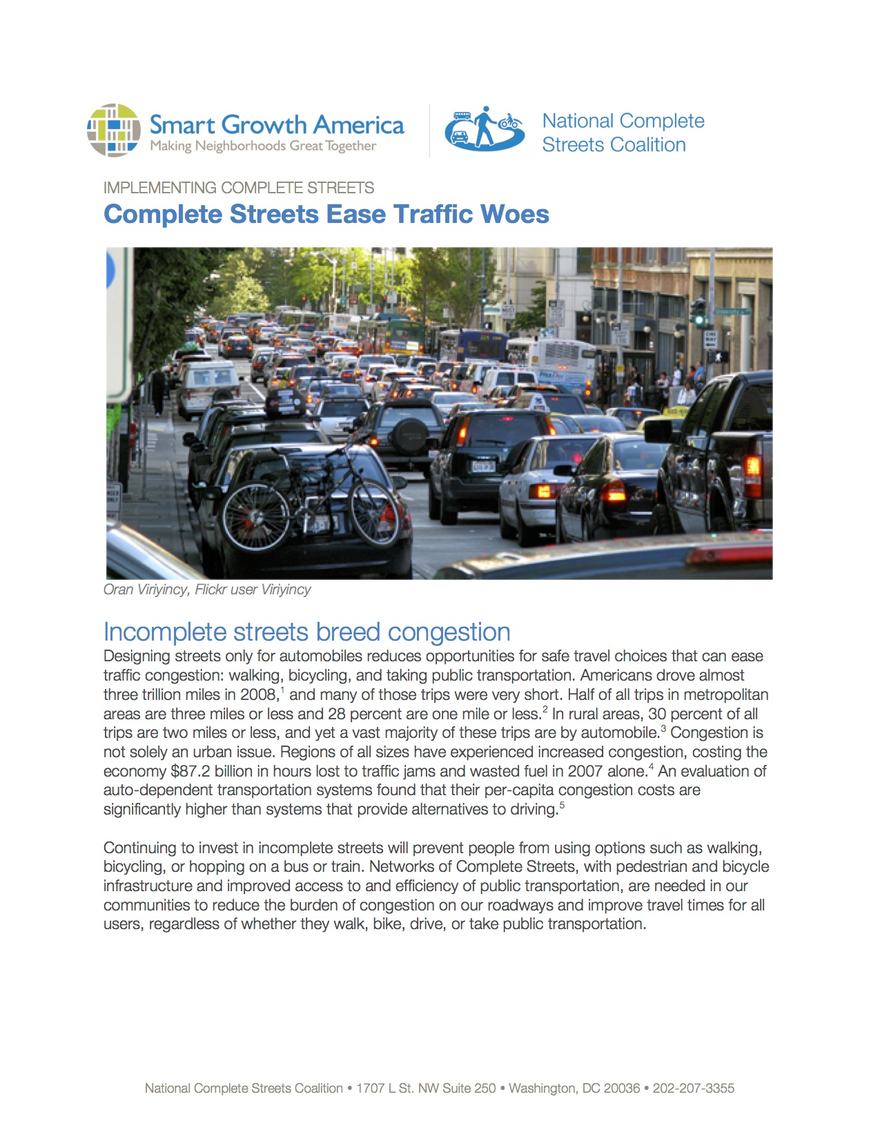 Complete Streets Ease Traffic Woes