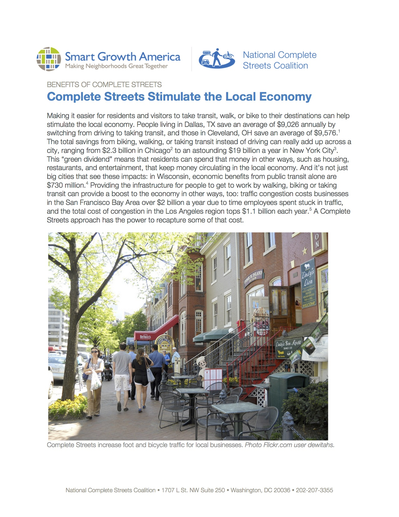 Economic Revitalization: Benefits of Complete Streets