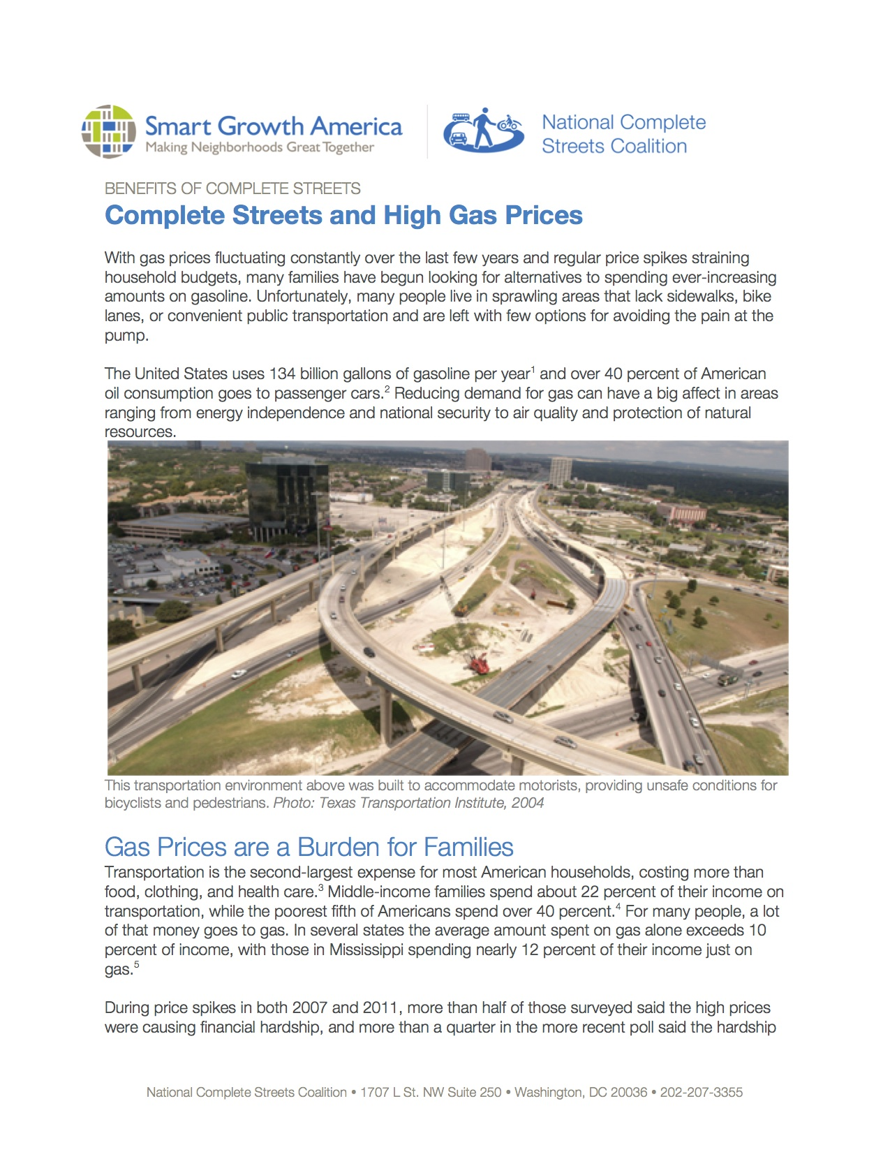 Gas Prices: Benefits of Complete Streets