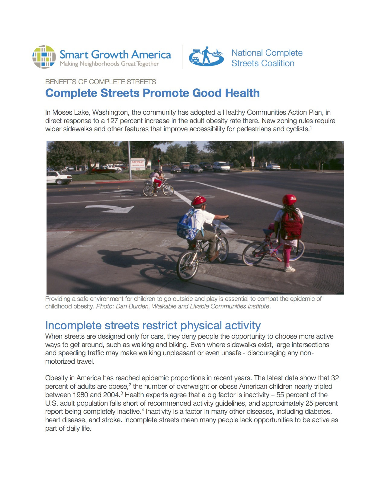 Health: Benefits of Complete Streets