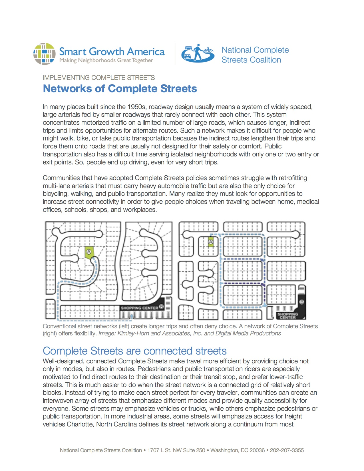 Networks of Complete Streets