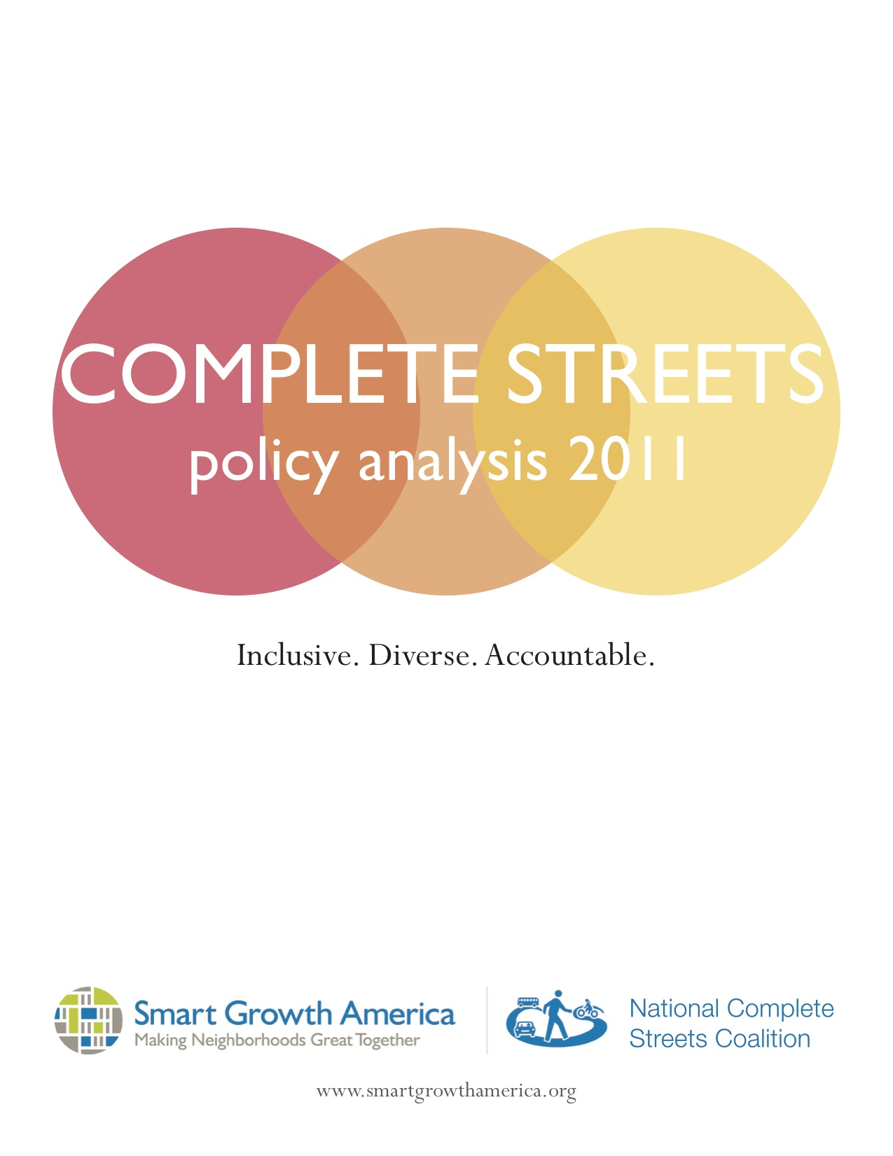 Complete Streets Policy Analysis 2011