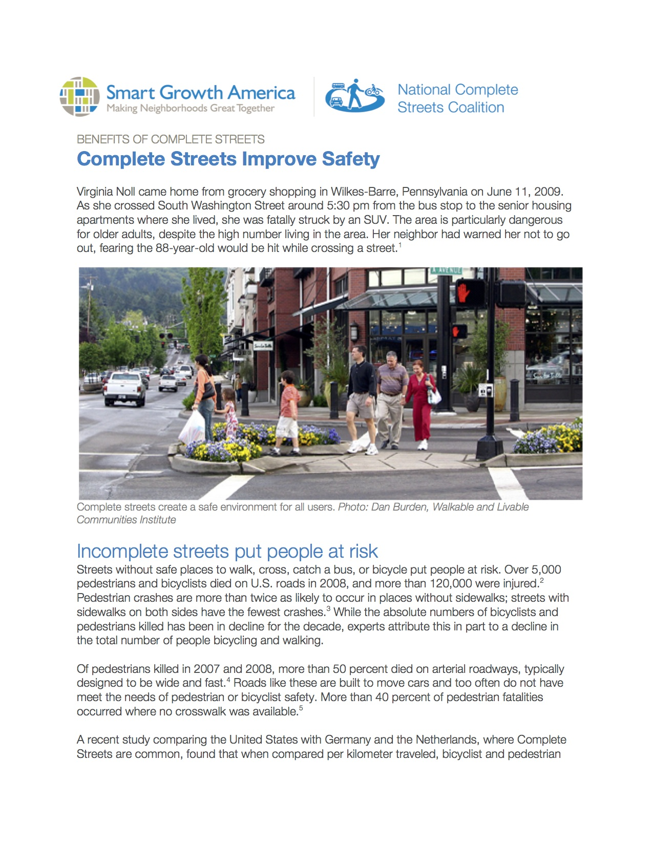 Safety: Benefits of Complete Streets