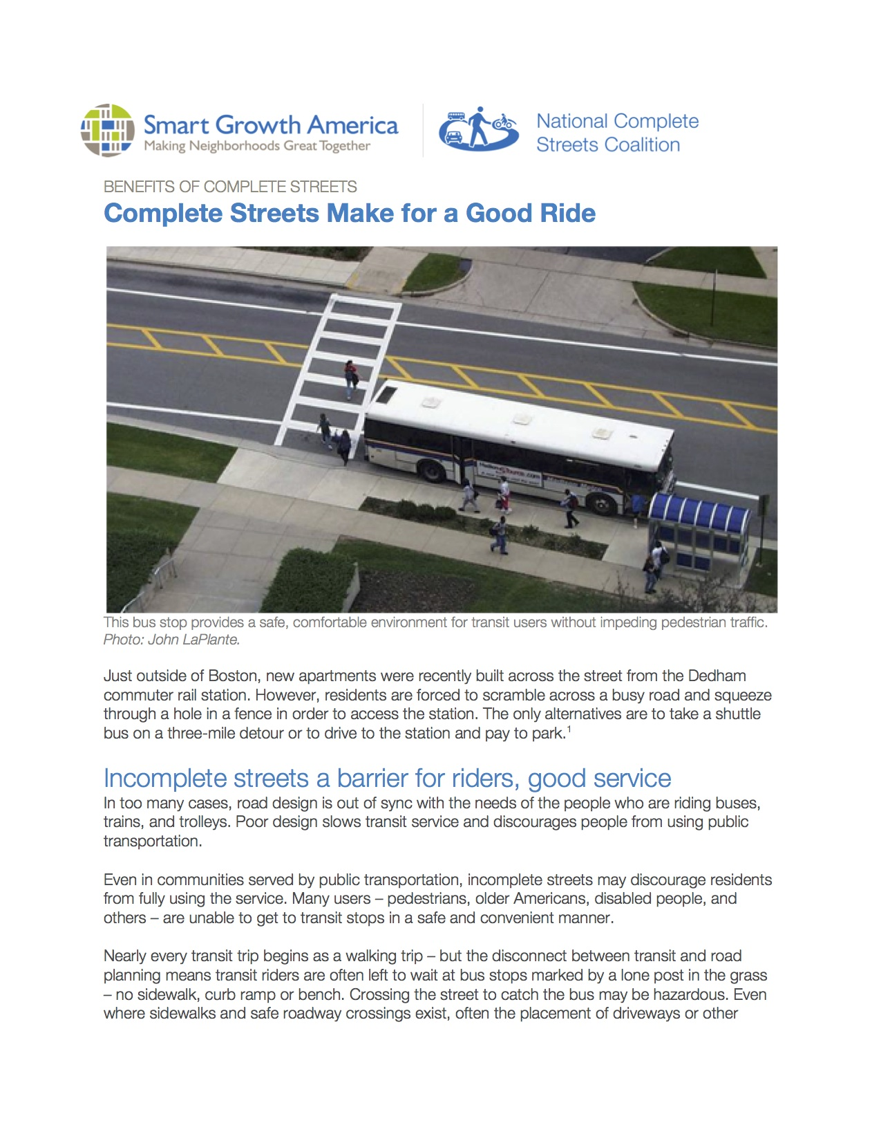 Public Transportation: Benefits of Complete Streets