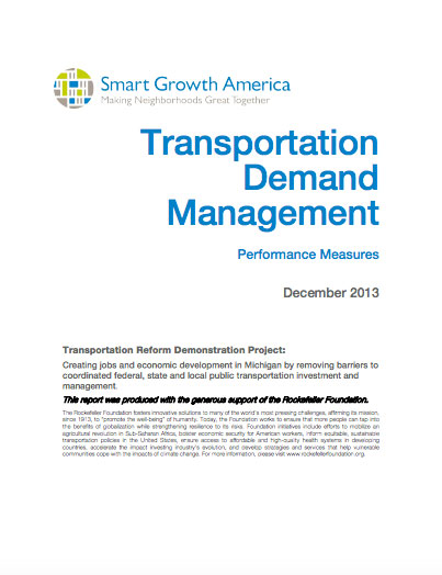 Transportation Demand Management in Southeast Michigan