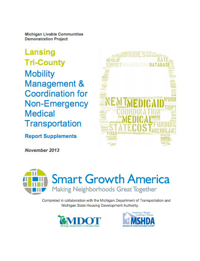 Mobility Management & Coordination in the Lansing, MI region: Supplemental materials