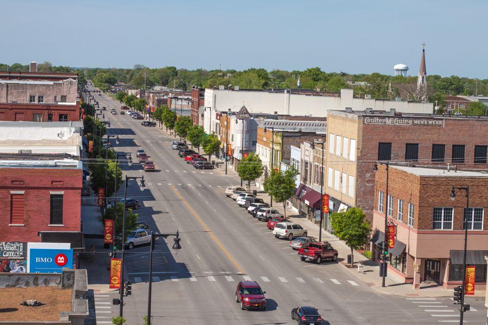 view of downtown Pittsburg, Kansas