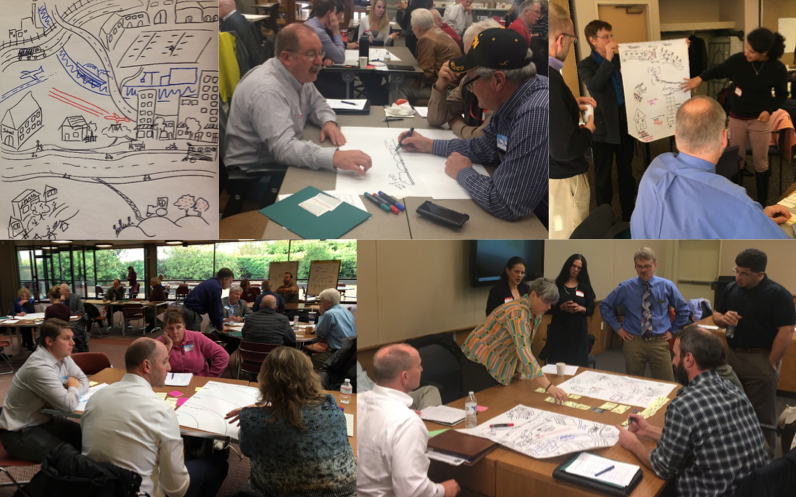 photos from a workshop on economic vitality